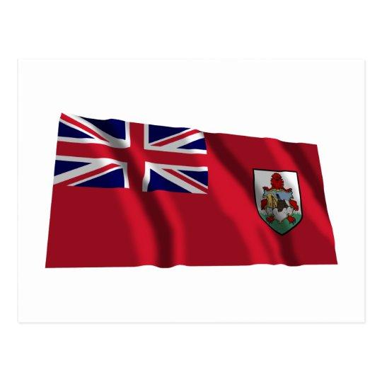 Bermuda Waving Flag Postcard