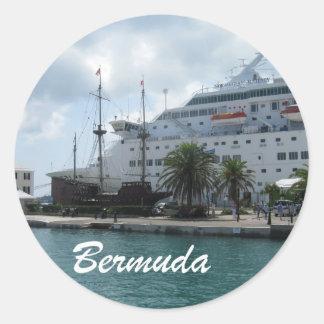 Bermudas Pegatinas Redondas