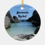 ¡Bermudas, rocas! Adorno Navideño Redondo De Cerámica