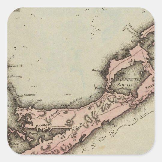 Bermudas Square Sticker