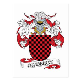 Bermudez Family Crest Postcard