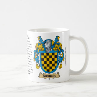 Bermudez, the Origin, the Meaning and the Crest Coffee Mug