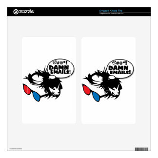 Bern Hates Emails Decal For Kindle Fire