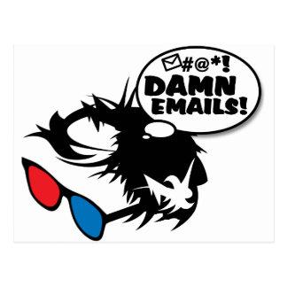 Bern Hates Emails Postcard