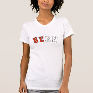 Bern in Switzerland national flag colors T-Shirt