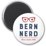 Bern Nerd | Funny Bernie Sanders 2 Inch Round Magnet