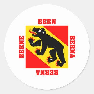 Bern Switzerland Canton Flag Classic Round Sticker