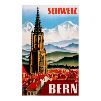 Bern, Switzerland travel poster