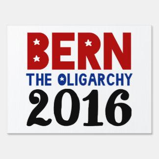 BERNA la oligarquía Letreros
