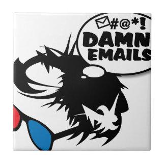 Berna odia correos electrónicos azulejo cuadrado pequeño