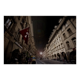 Berna, Suiza en la noche Posters