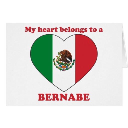 Bernabe Greeting Card
