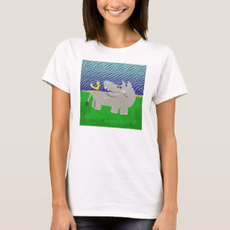 Bernadette Hippo And Monica Her Bird Friend Monica T-Shirt