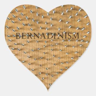 Bernadinism Book of Screws Heart Sticker