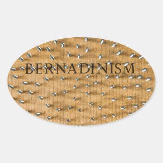 Bernadinism Book of Screws Oval Sticker