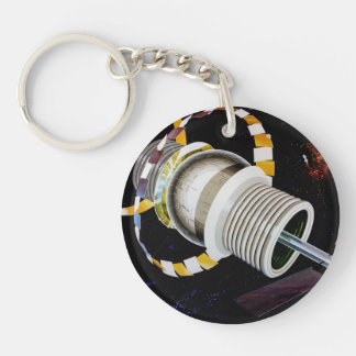 Bernal Sphere Exterior Space Travel Acrylic Key Chains