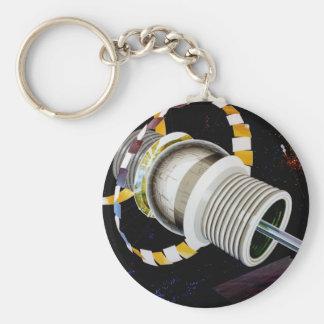 Bernal Sphere Exterior Space Travel Keychain