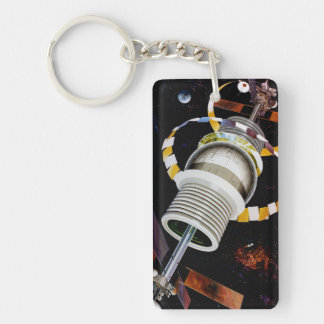 Bernal Sphere Exterior Space Travel Acrylic Keychains