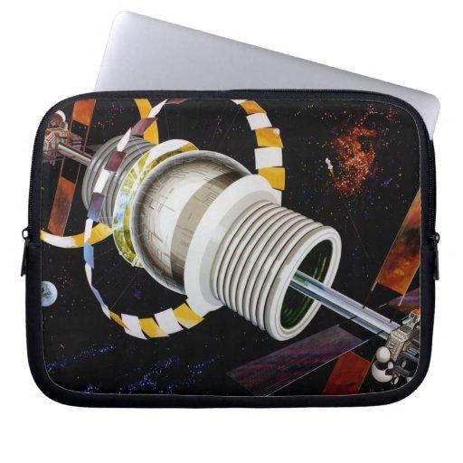 Bernal Sphere Exterior Space Travel Computer Sleeves