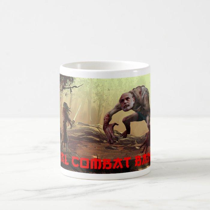 Bernanke against the Samarai Coffee Mug