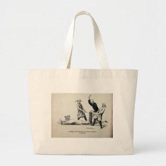 Bernanke-Bearded White Deadbeat Large Tote Bag