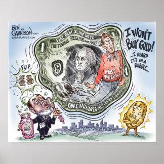 Bernanke  Bubble Bucks Print