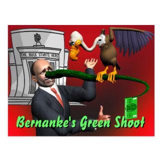 Bernanke's Green Shoot Postcard