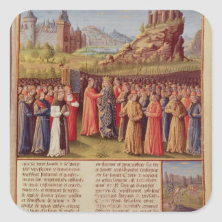 Bernard cruzada de predicación de Clairvaux de la Pegatina Cuadrada
