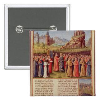 Bernard cruzada de predicación de Clairvaux de la  Pin Cuadrado