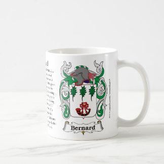 Bernard, el origen, el significado y el escudo taza de café