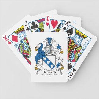 Bernard Family Crest Playing Cards