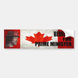 Bernard for Prime Minister Bumper Sticker