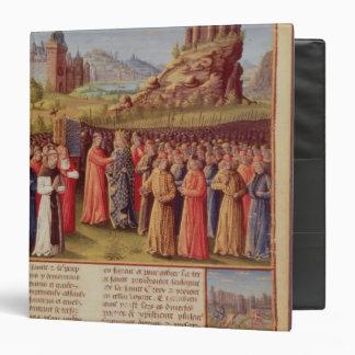 Bernard  of Clairvaux preaching Second Crusade 3 Ring Binder