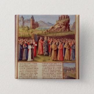Bernard  of Clairvaux preaching Second Crusade Pinback Button