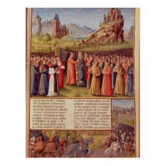 Bernard  of Clairvaux preaching Second Crusade Postcard