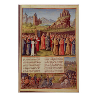 Bernard  of Clairvaux preaching Second Crusade Print
