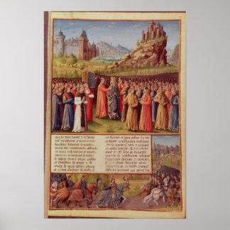 Bernard  of Clairvaux preaching Second Crusade Poster