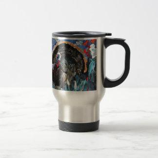 Bernard the Turkey. Original painting by Griff 15 Oz Stainless Steel Travel Mug
