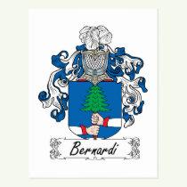 Bernardi Family Crest Postcard