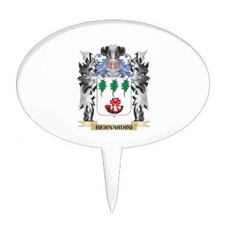 Bernardini Coat of Arms - Family Crest Cake Topper