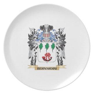 Bernardini Coat of Arms - Family Crest Party Plates