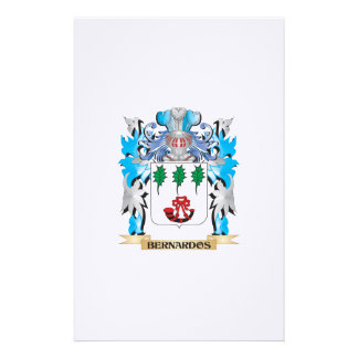 Bernardos Coat of Arms Customized Stationery