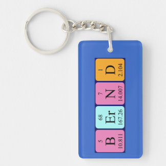 Bernd periodic table name keyring keychain