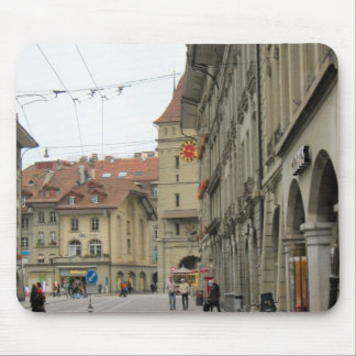 Berne -  Arcades and clocktower 1 Mouse Pad