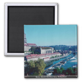 Berne, Minster and River Aare, Switzerland Magnet