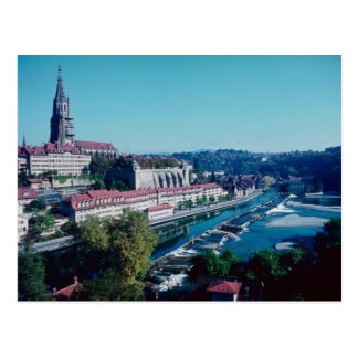 Berne, Minster and River Aare, Switzerland Postcard