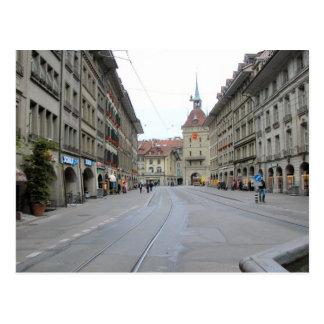Berne old city - Arcaded street and clocktower Postcard