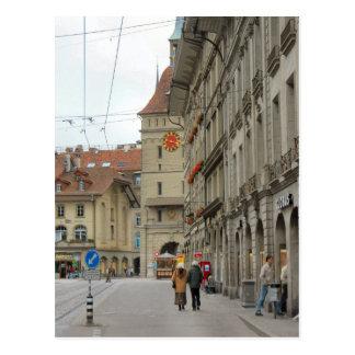 Berne old city - Medieval clocktower Postcard