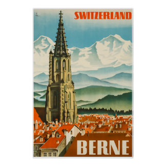 Berne, Switzerland, Travel Poster