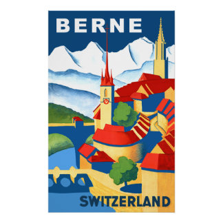 Berne, Switzerland travel poster